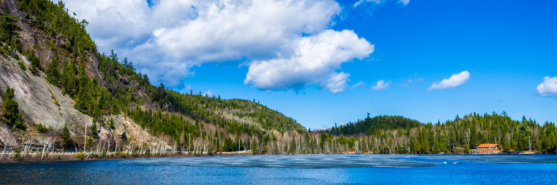 Lake in the Laurentian Mountains