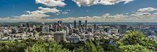 Montréal skyline in Canada