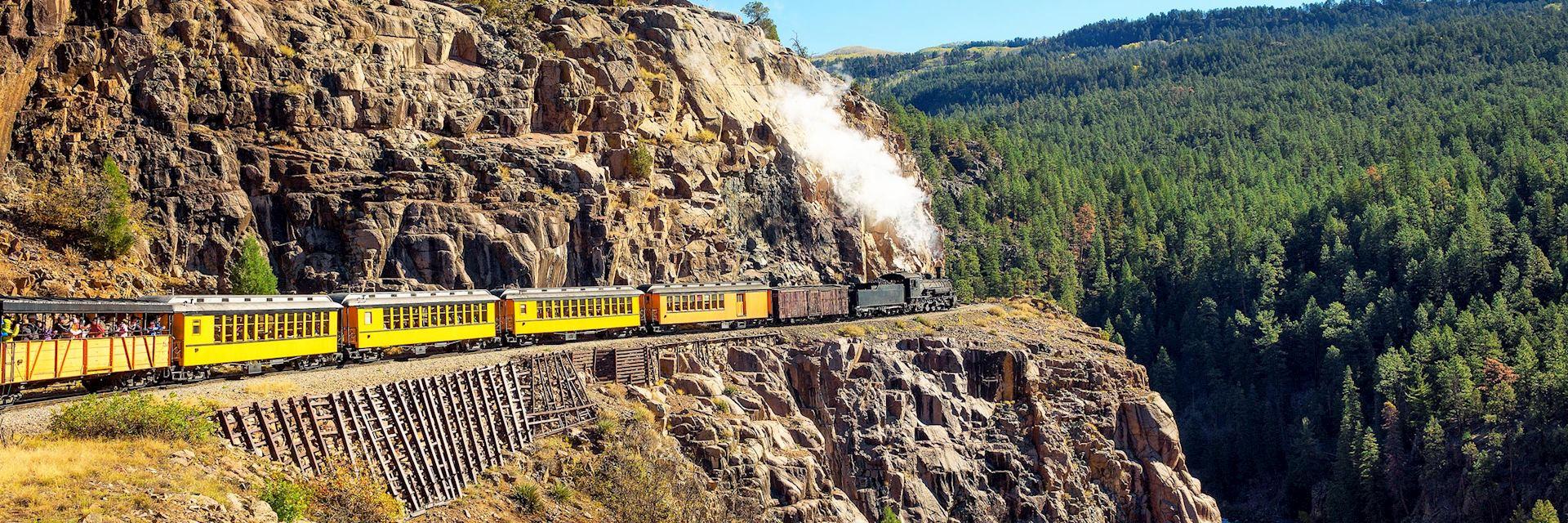 Durango and Silverton historic steam train, Colorado