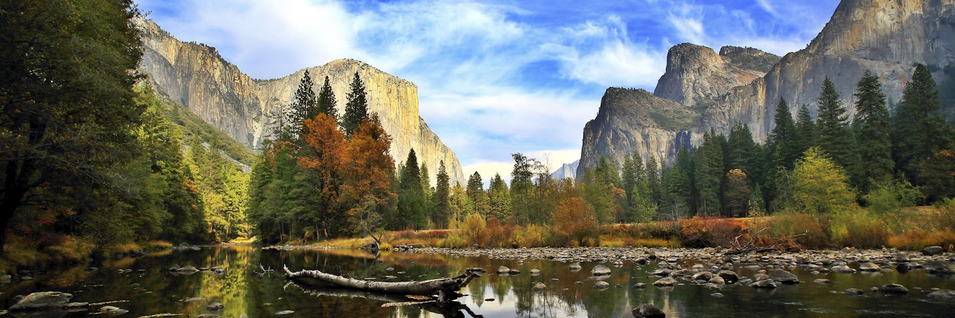 El Capitan and the Merced River in Yosemite National Park