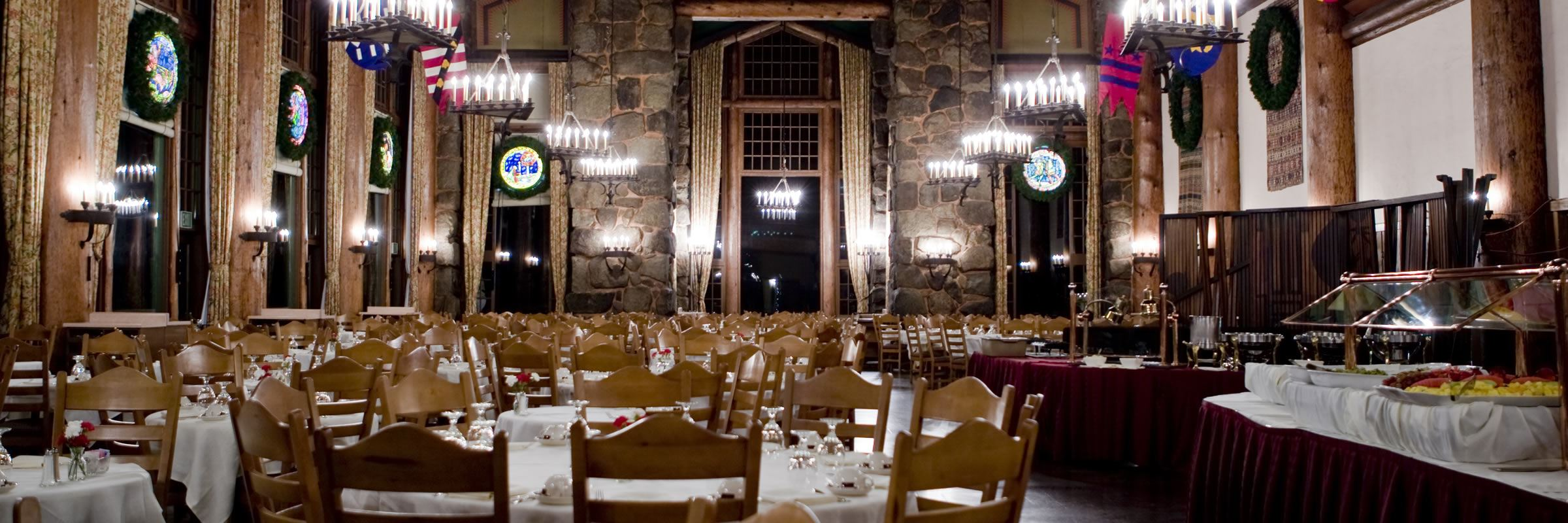 The Magnificent Dining Hall Of The Majestic Yosemite Hotel