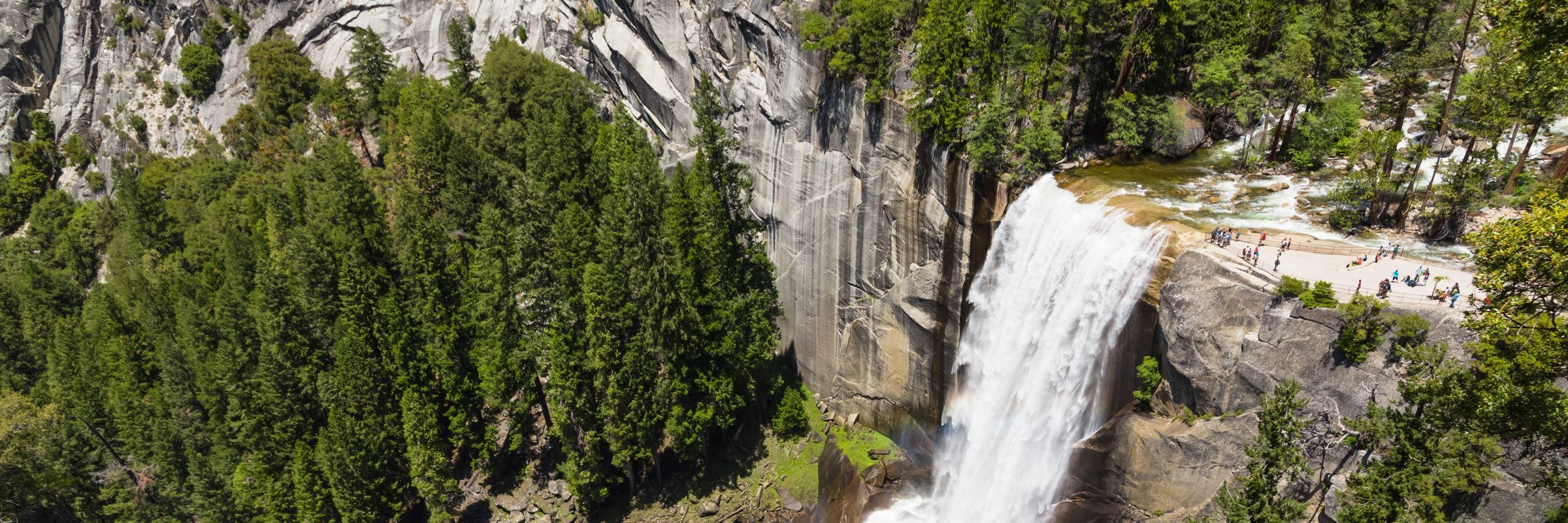 The spectacular 317 ft (96 m) high Vernal Falls
