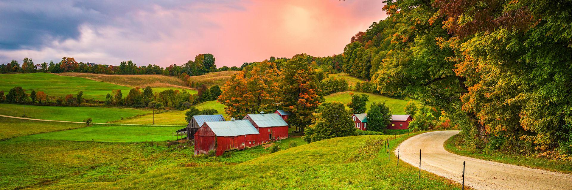 Vermont farm, New England