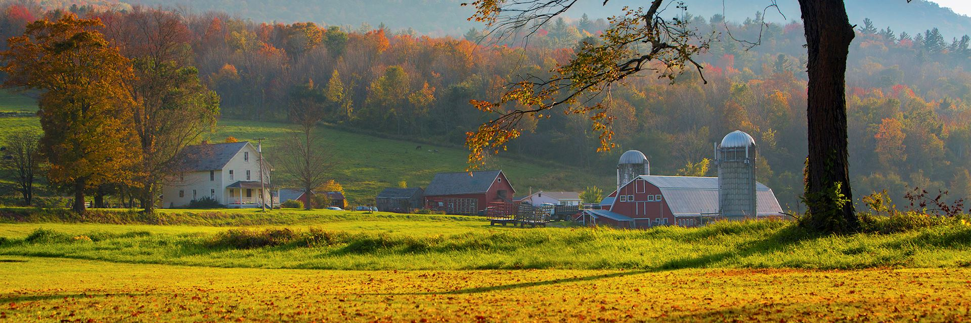 Vermont farmland in New England