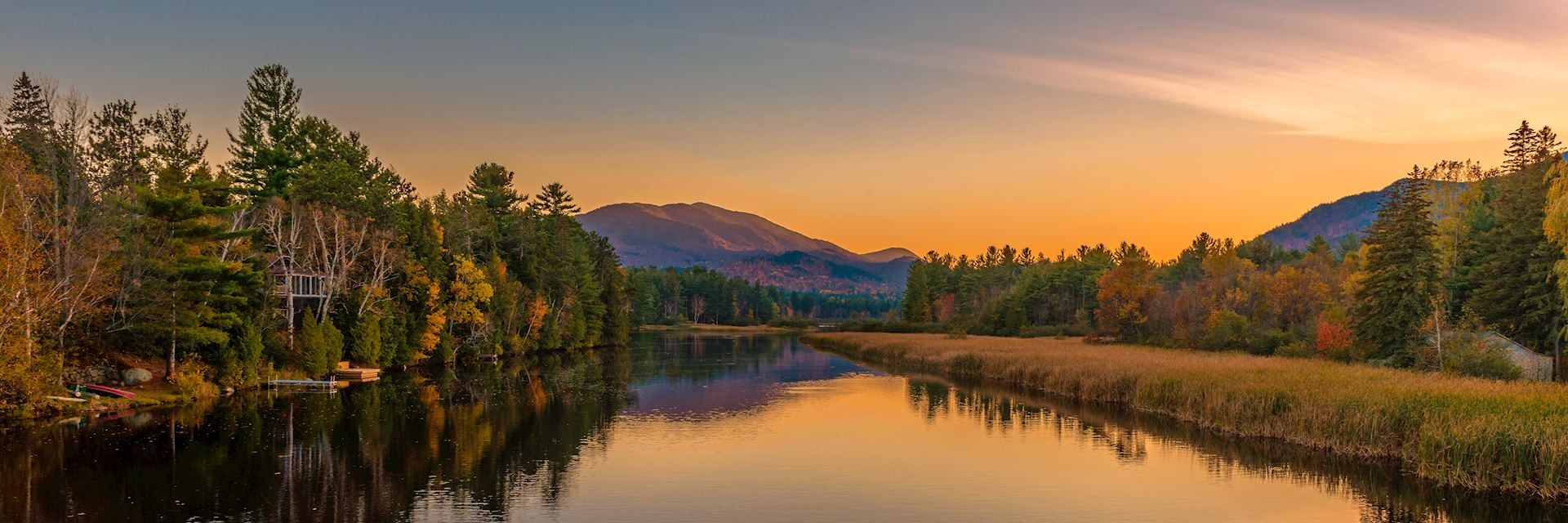 Sunset on Lake Placid