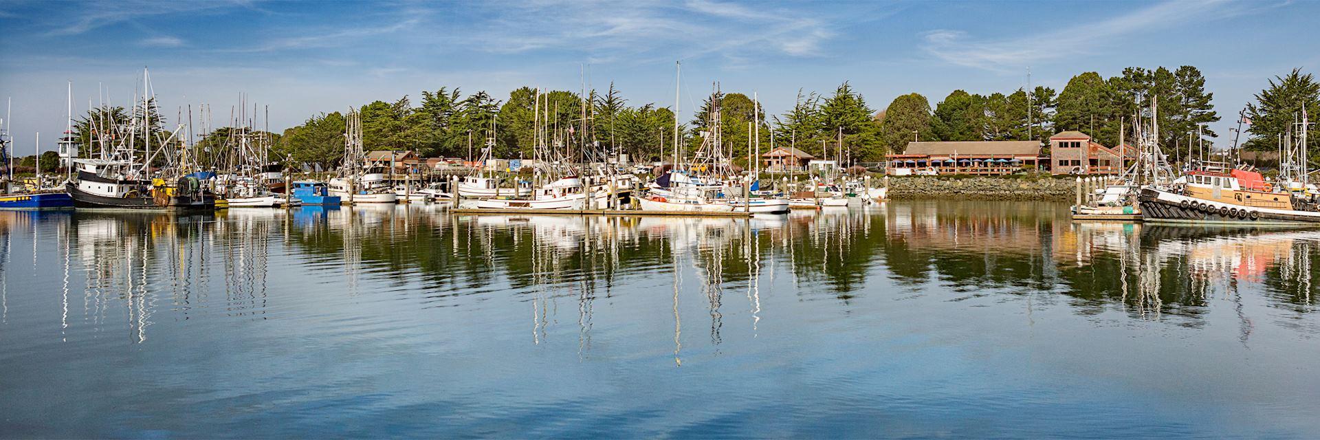 Woodley Island marina, Eureka