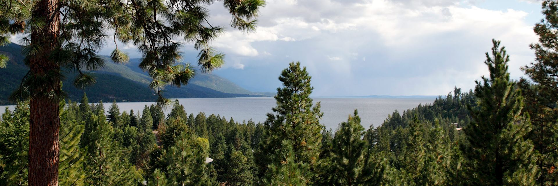 Flathead Lake near Kalispell, the USA
