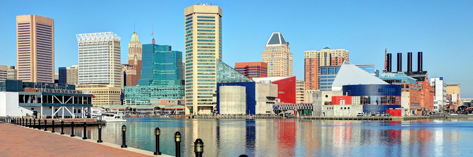 Baltimore's inner harbour, the USA