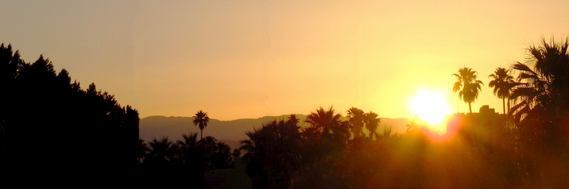 Sunrise at Palm Springs, California