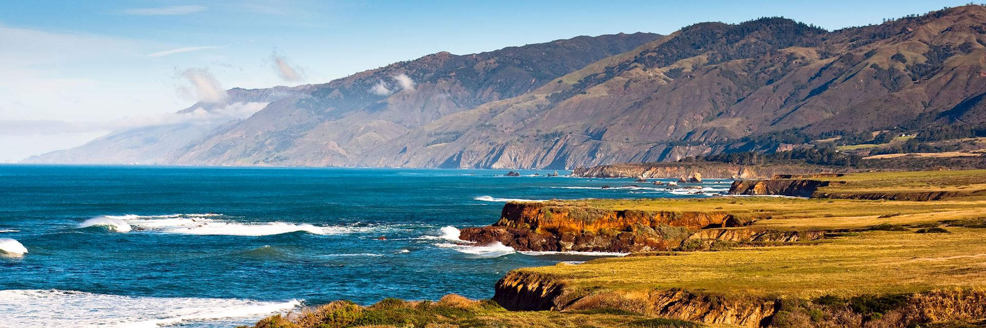 Coastal scenery in Big Sur