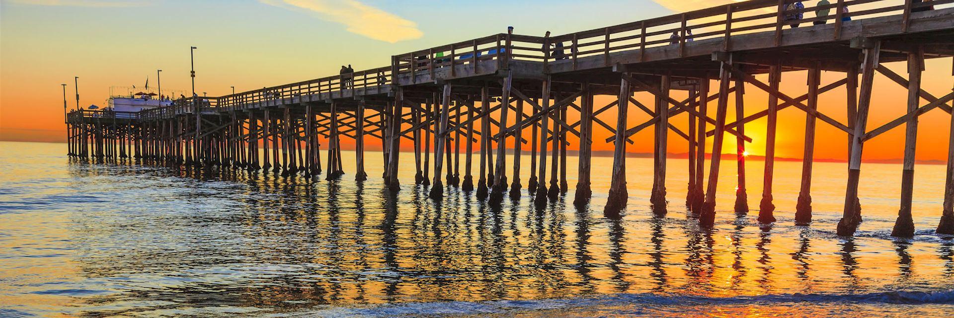 Balboa Pier in Orange County, California