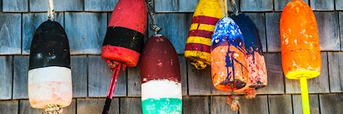 Lobster buoys, Maine, New England
