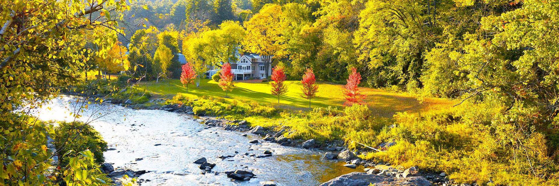 Ottauquechee River in Woodstock, Vermont