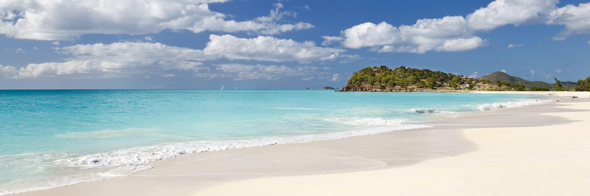 Deserted beach on Antigua