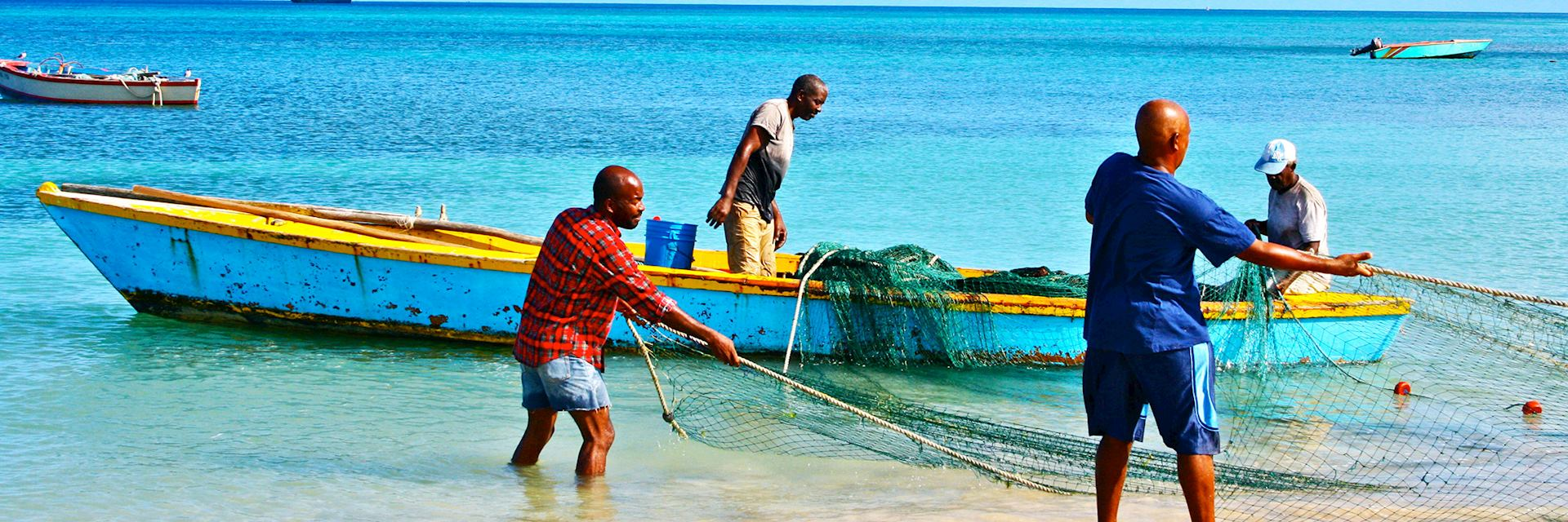 Fishermen in Grenada
