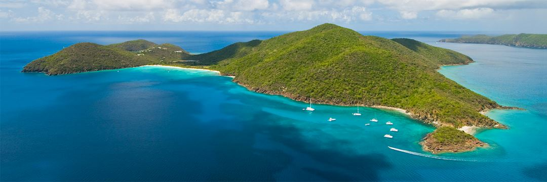 Guana Island from the air, British Virgin Islands