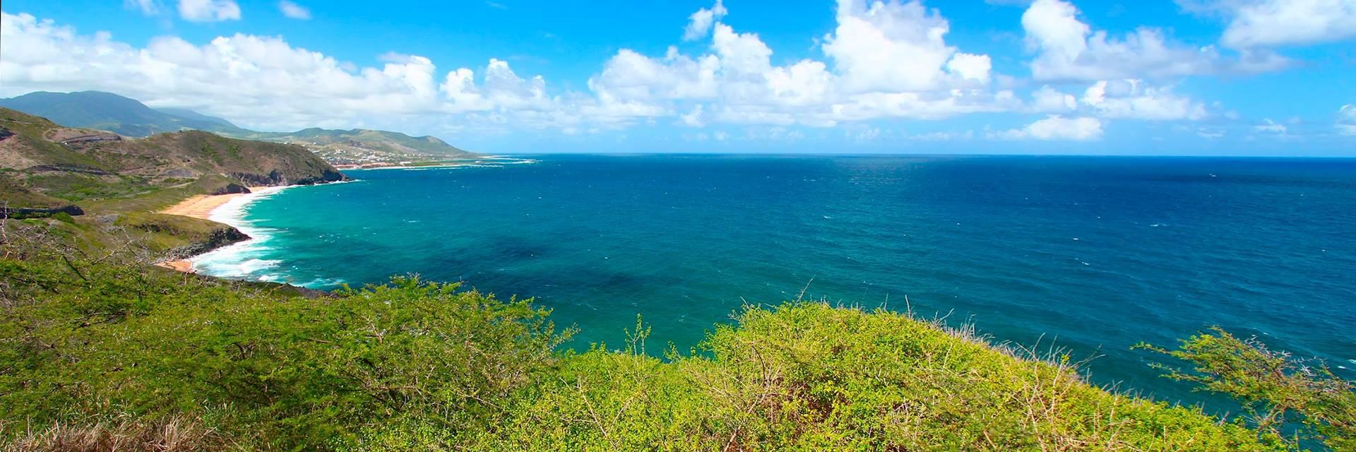 Saint Kitts coastline, Saint Kitts and Nevis