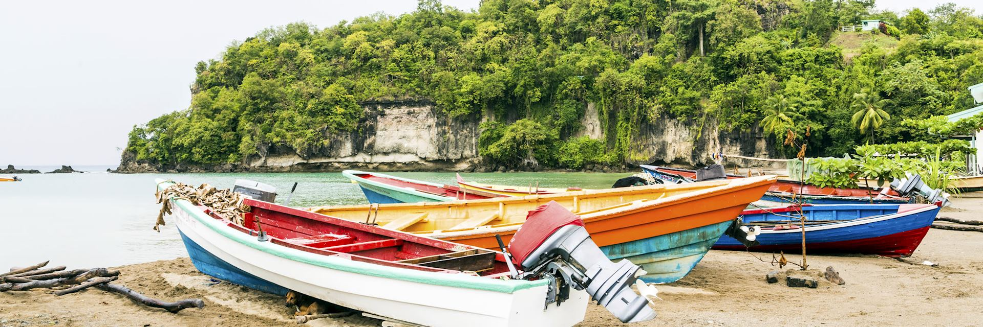 Fishing boats on St Lucia