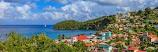 Canaries, a small village on the west coast of St Lucia