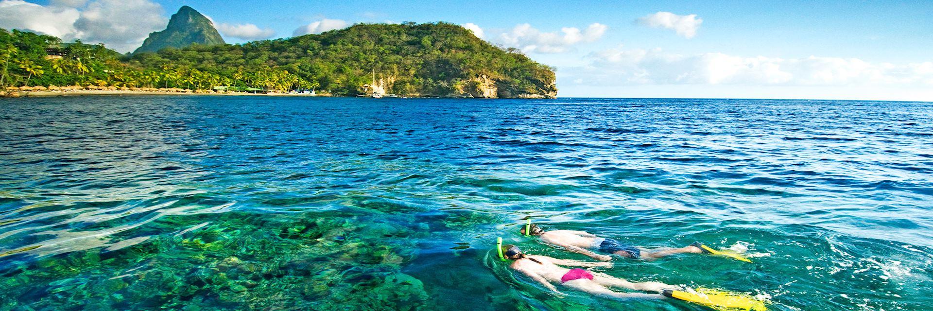 Snorkelling, Saint Lucia