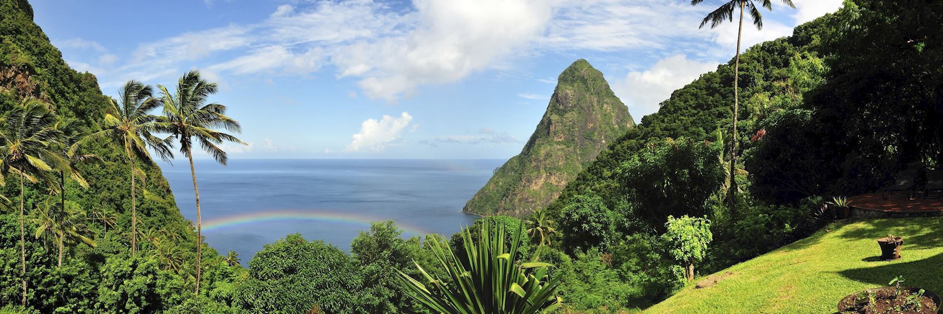 One of the two Pitons (volcanic mountains) on St Lucia