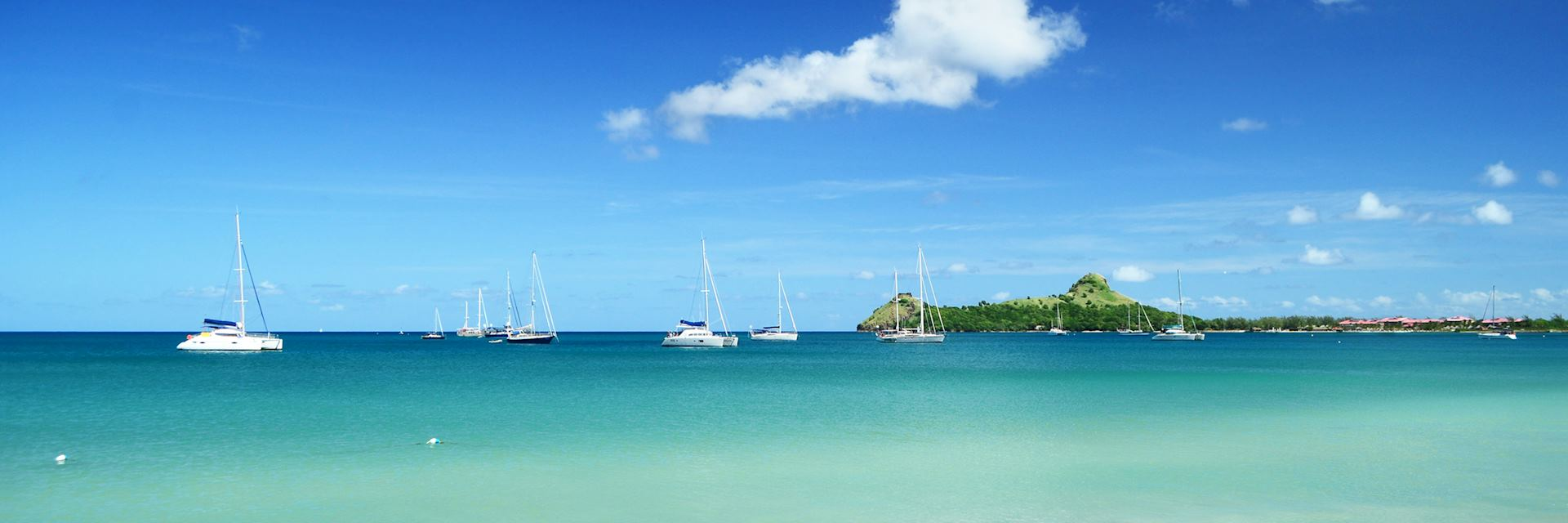 Yachts in Rodney Bay
