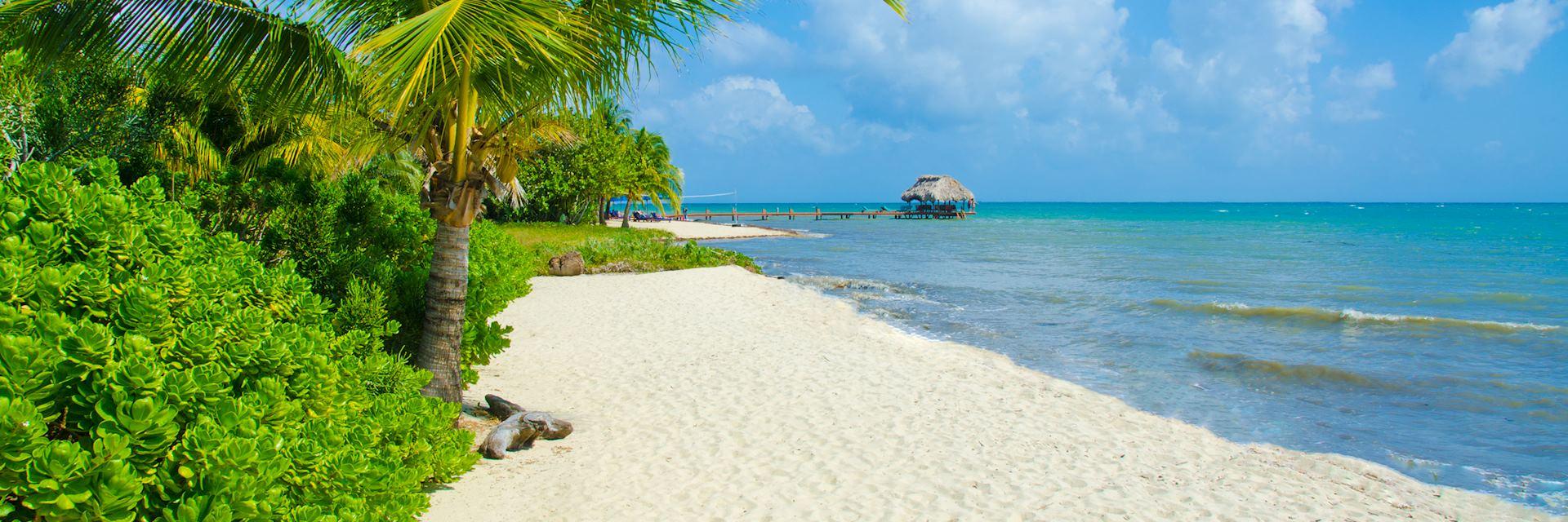 Beach in Placencia, Belize