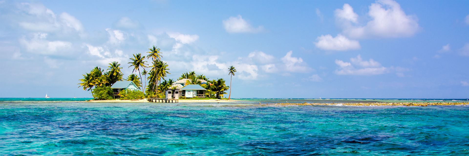 Secluded island, Belize