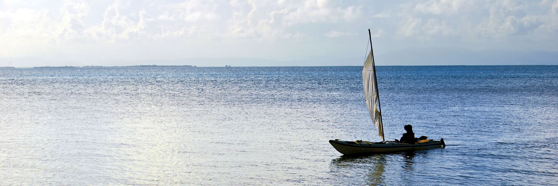 Traditional style sailing boat, Belize