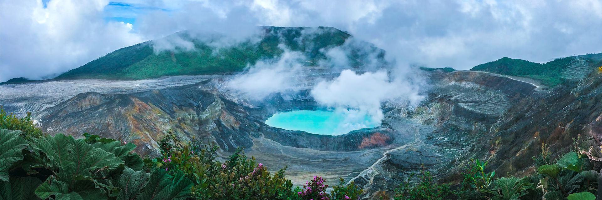 Poas Volcano in central Costa Rica