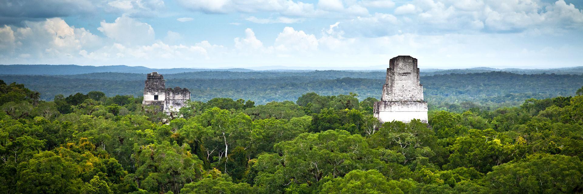 Maya ruins in Tikal National Park