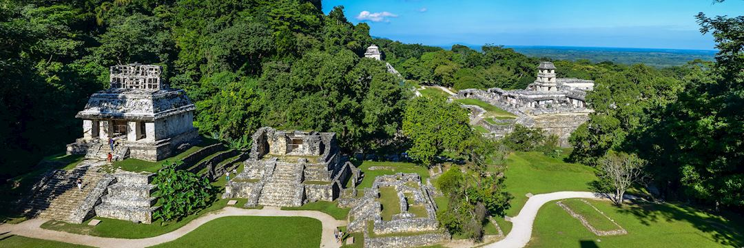 Maya ruins at Palenque, Mexico