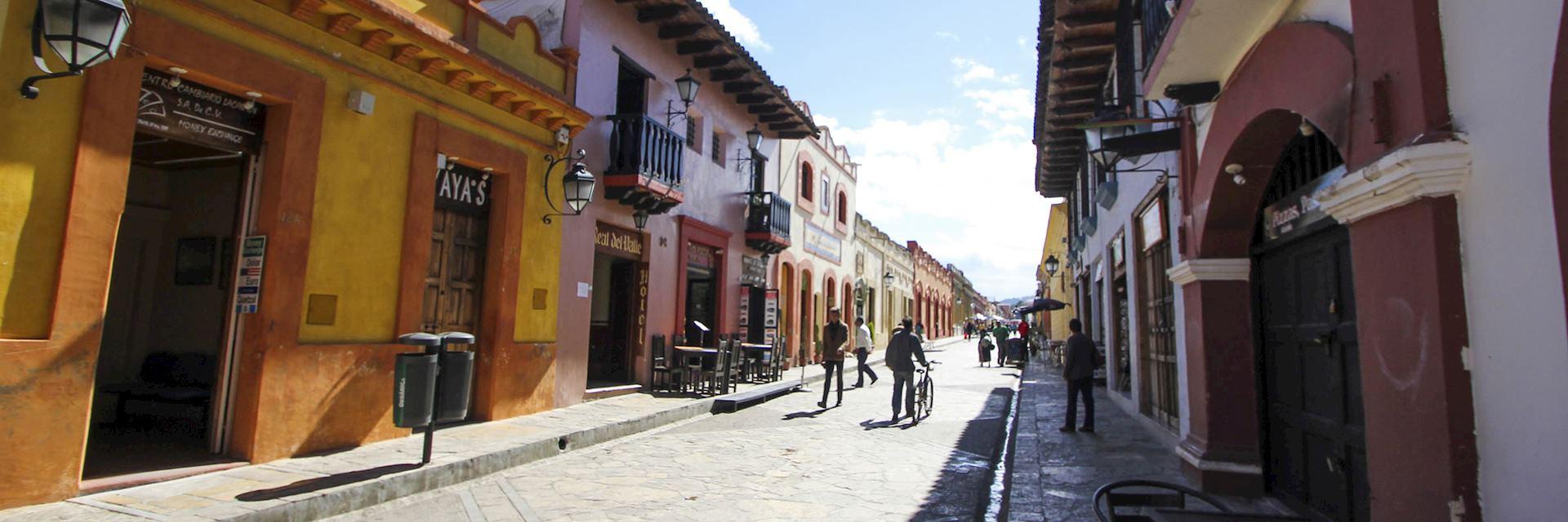 A street in San Cristóbal de las Casas