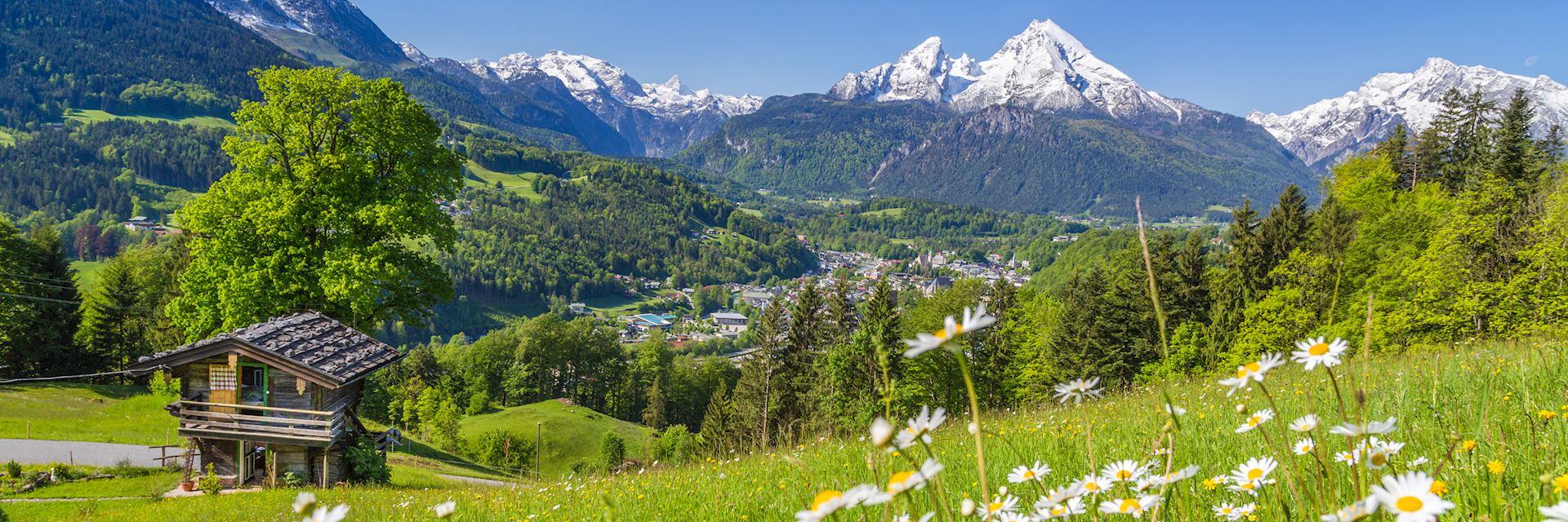 Austrian mountain village in summer