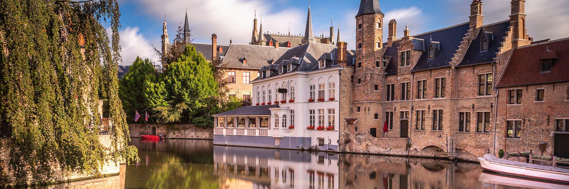 Rozenhoedkaai at sunrise, Bruges, Belgium