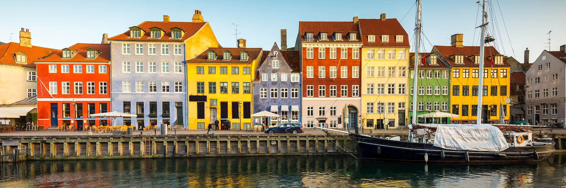 The waterfront canal of Nyhavn, Copenhagen