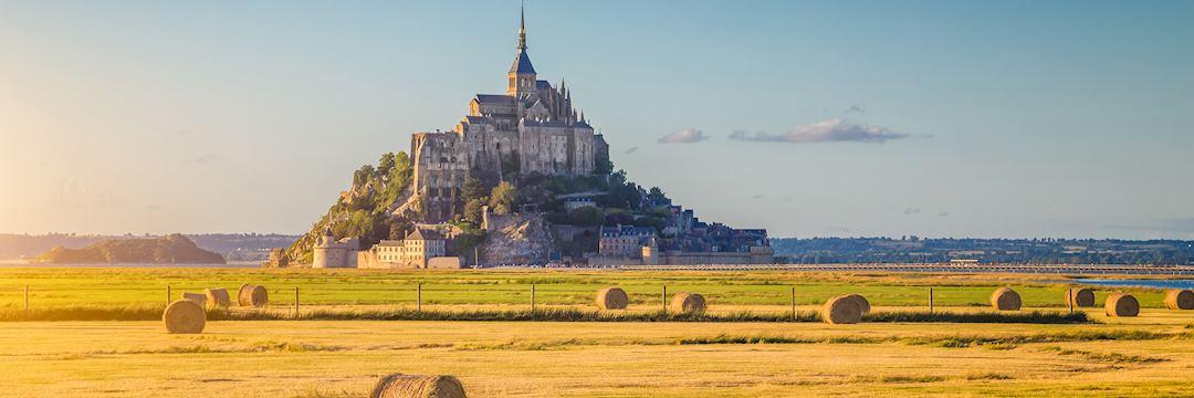 Le Mont Saint-Michel at sunset, Normandy