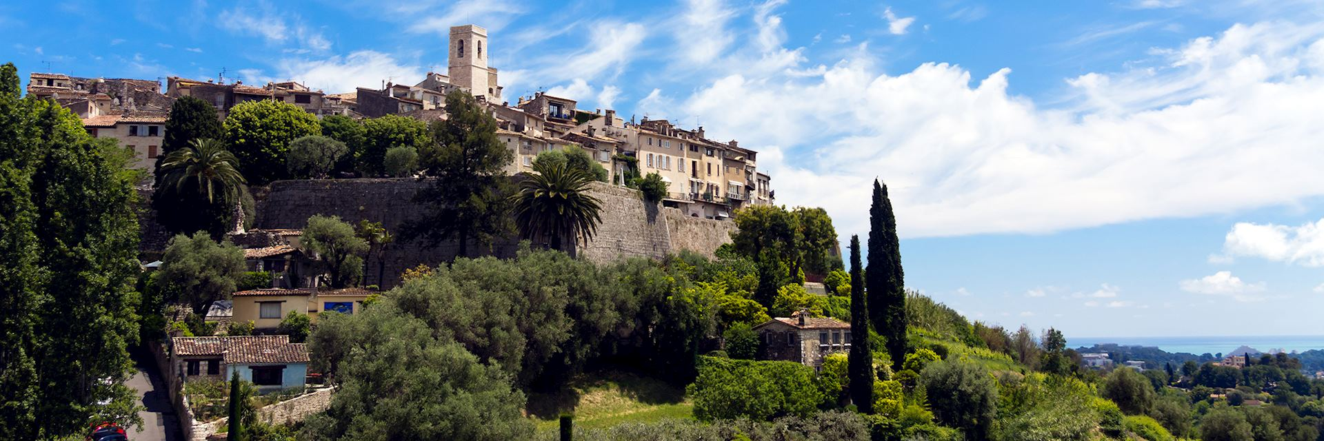 Panorama of Saint Paul de Vence (Cote d'Azur) France