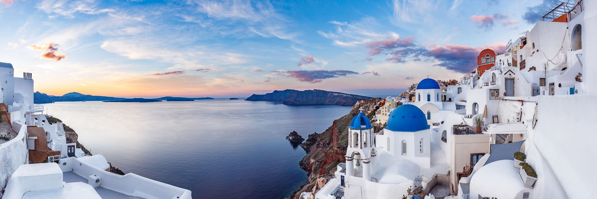 Santorini at sunrise