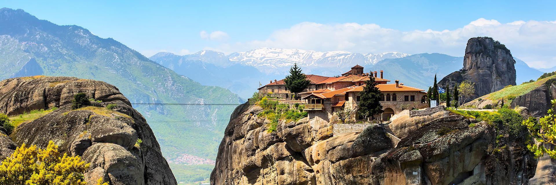 St Stefan Monastery, Meteora cliff