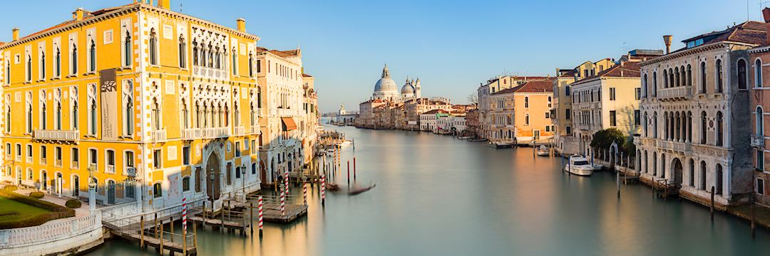 Full View from Accademia Bridge on Grand Canal, Venice, Italy