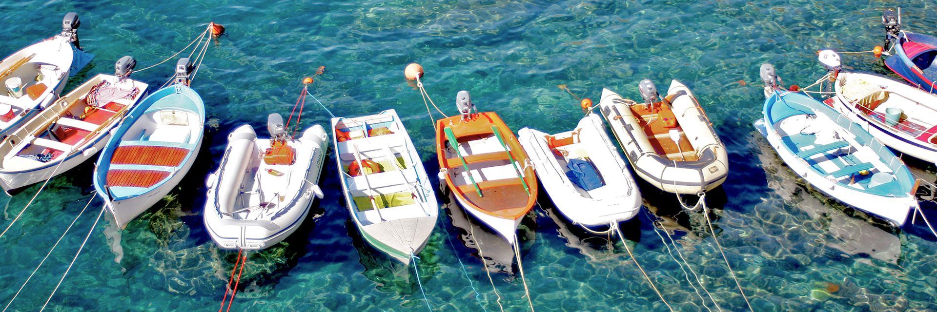 Boats moored, Amalfi Coast