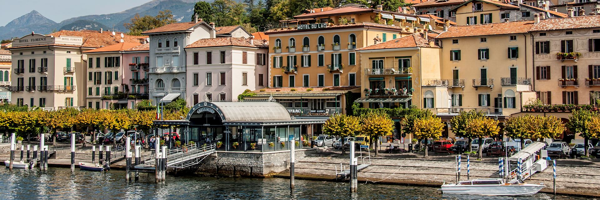 Caption: Bellagio waterfront, Lake Como