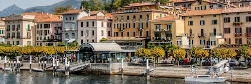 Caption: Bellagio waterfront, Lake Como