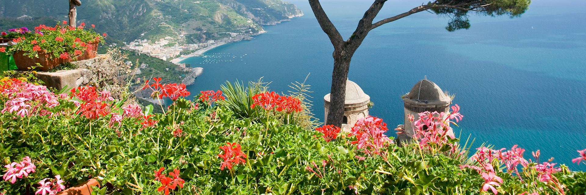 View over San Pantaleone Church, Ravello, Amalfi Coast