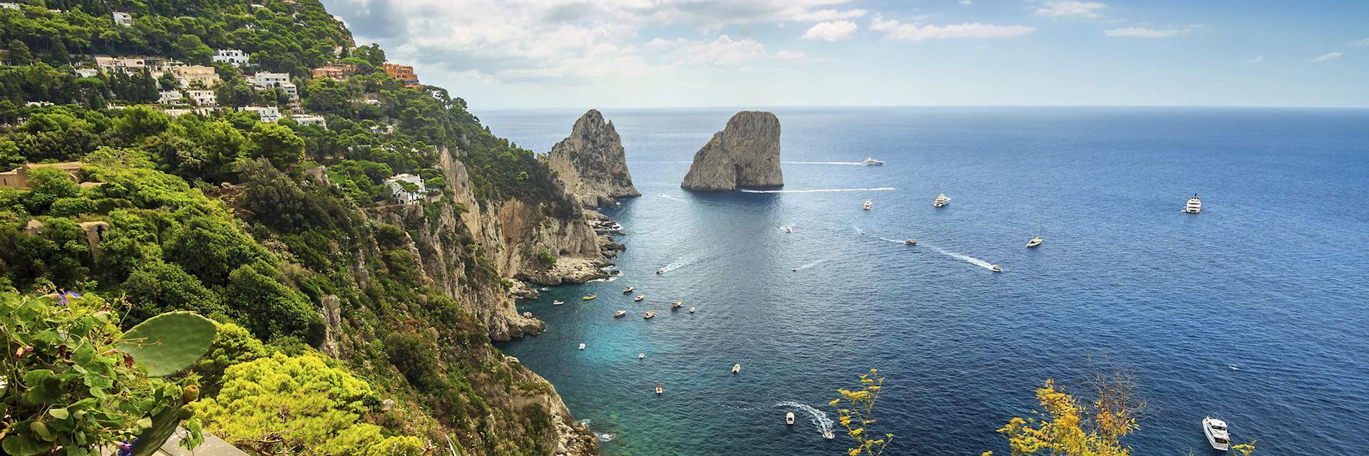 Coastal scenery, Capri Island