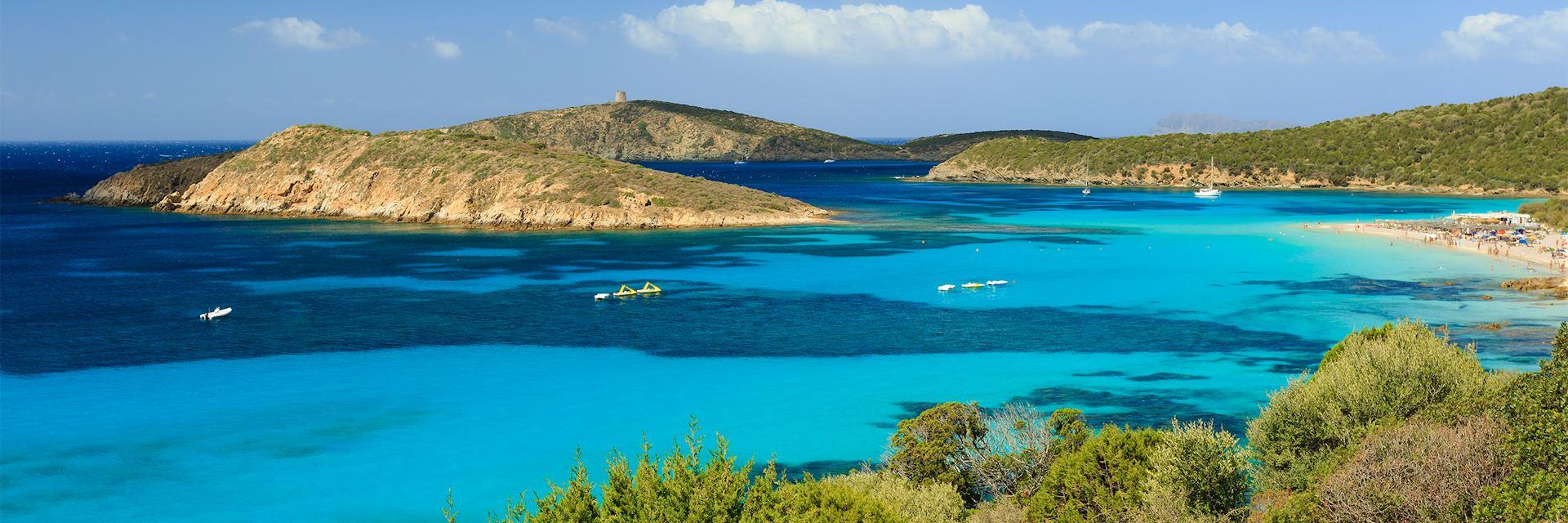 Southern Sardinia coastline