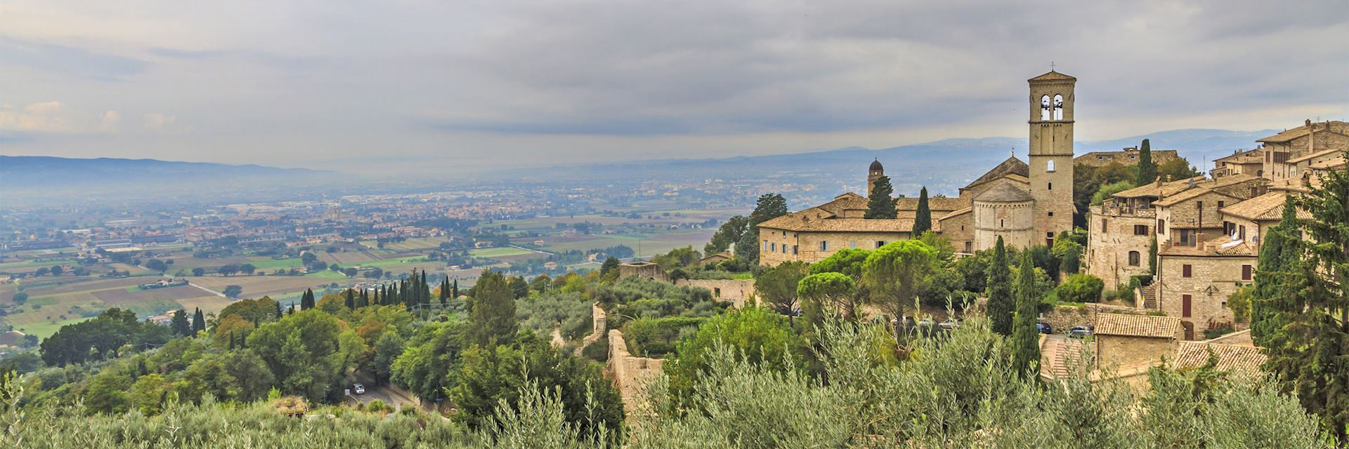 Scenic view of Umbria