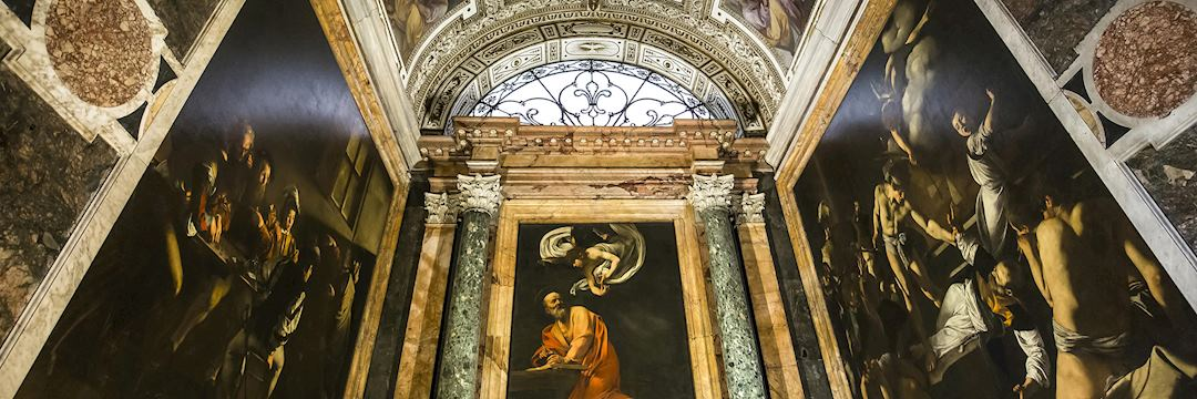 The inside of the Church of St. Louis of the French, Rome