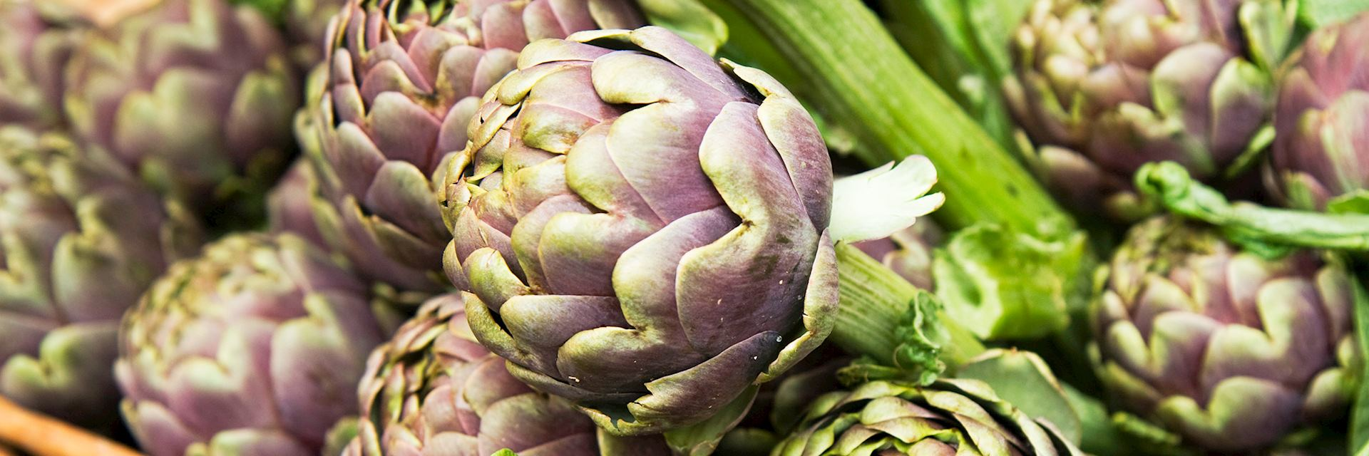 Artichokes at a market stall in Rome